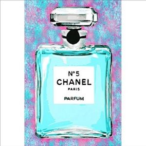 Chanel #5 wall frame